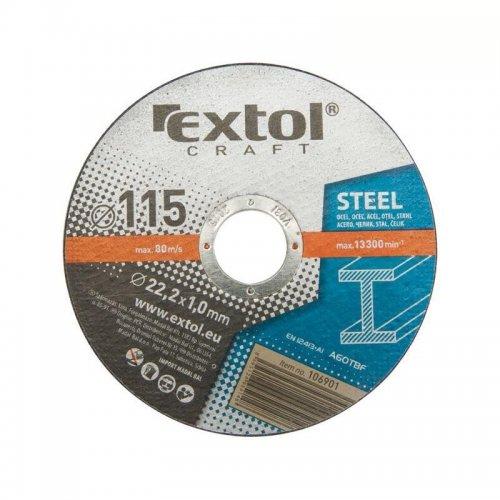 Kotouče řezné na kov 5ks 115x2,5x22,2mm EXTOL CRAFT 108010