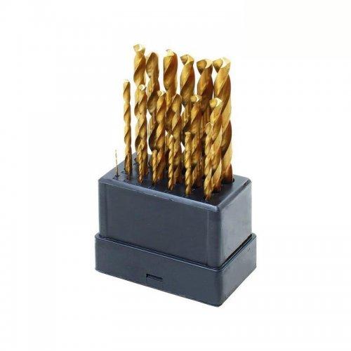 Vrták do kovu sada 19 ks, 1-10mm EXTOL CRAFT1119A