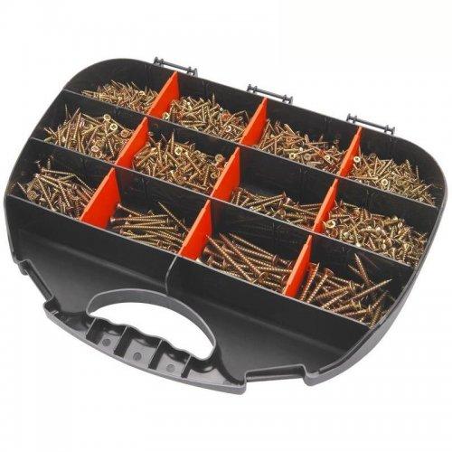 Vruty do dřeva 12 rozměrů 2000ks v plastové krabičce EXTOL CRAFT 1441