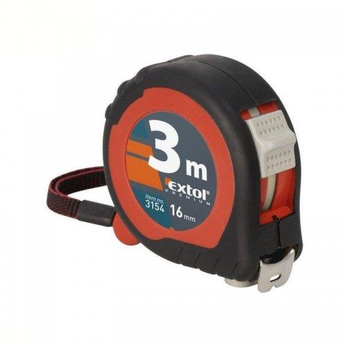 Svinovací metr 3m x 19mm pryžový obal EXTOL PREMIUM 3153