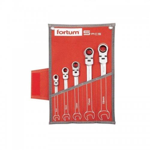 Klíče ráčnové očkoploché sada 5ks FORTUM 4720201