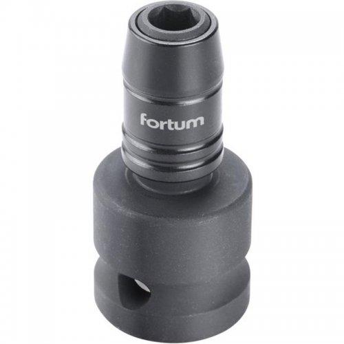 """Rázový adaptér 1/2""""čtyřhran na hroty 1/4"""", CrMoV FORTUM 4790002"""