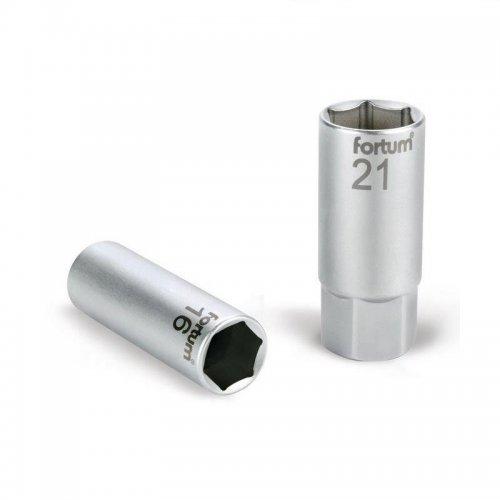 """Hlavice nástrčná na zapalovací svíčky 1/2"""" 21mm L 65mm magnet FORTUM 4700904"""