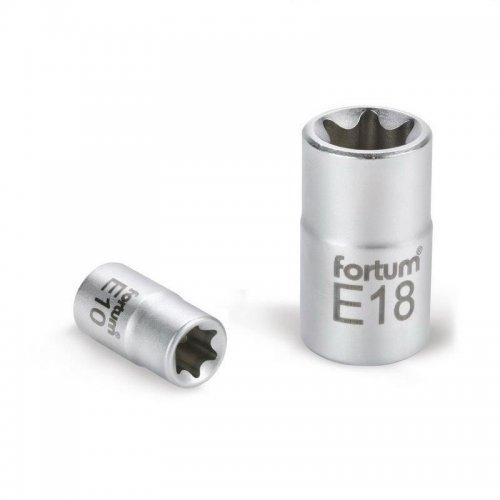"""Hlavice nástrčná vnitřní TORX 1/4"""" E 4 L 25mm FORTUM 4701704"""