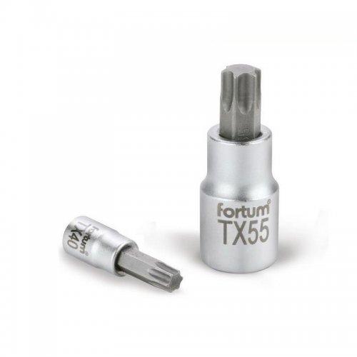"Hlavice zástrčná TORX 1/4"" TX 10 L 37mm FORTUM 4701720"