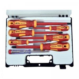 Šroubováky elektrikářské se zkoušečkou, sada 7ks EXTOL PREMIUM 53087