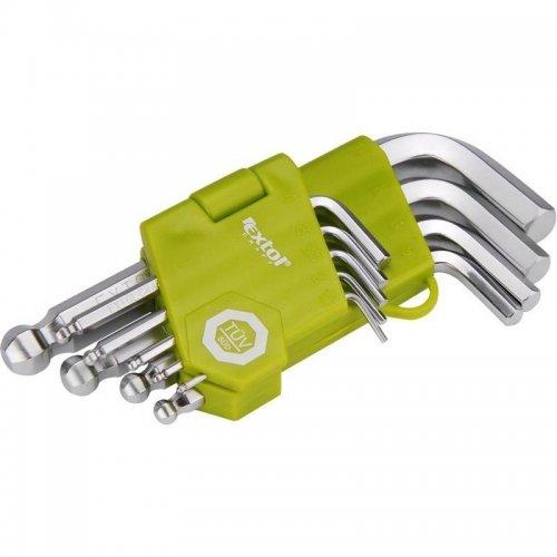 L-klíče imbus krátké sada 9ks 1,5-10mm s kuličkou EXTOL CRAFT 66000