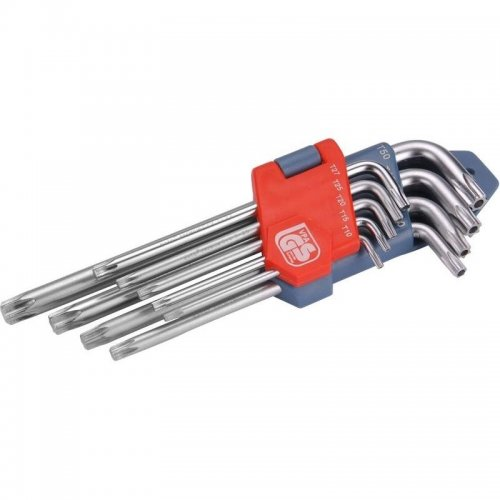 L-klíče TORX sada 9ks T 10-50 EXTOL PREMIUM 6601