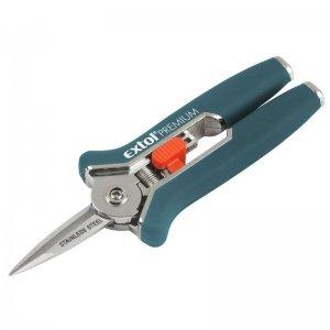 Nůžky mini zahradnické přímé 153mm stříhání do průměru 6mm EXTOL PREMIUM 8872115