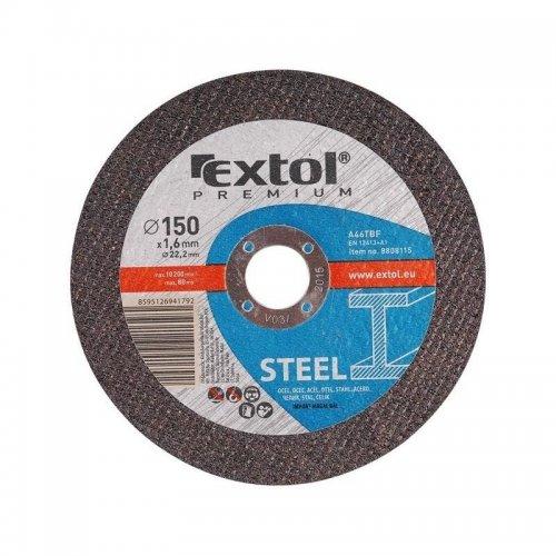 Kotouč řezný na ocel 125x0,8x22,2mm EXTOL PREMIUM 8808152