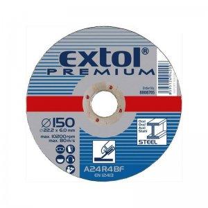 Kotouč brusný na ocel 115x6,0x22,2mm EXTOL PREMIUM 8808700