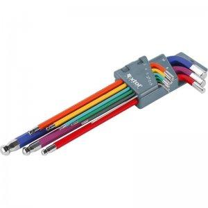 L-klíče imbusy prodloužené barevné sada 9ks EXTOL PREMIUM 8819315