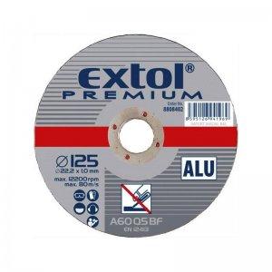 Kotouč řezný na hliník 125x1,0x22,2mm EXTOL PREMIUM 8808402