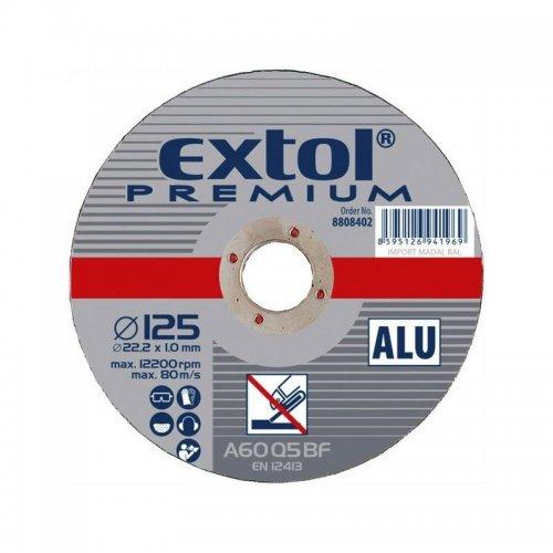 Kotouč řezný na hliník 115x1,0x22,2mm EXTOL PREMIUM 8808400
