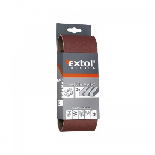 Nekonečný pás brusné plátno bal.3ks P120 EXTOL PREMIUM 8803512