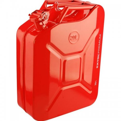 Kanystr ocelový na benzín 20l EXTOL PREMIUM 8863200