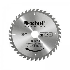Kotouč pilový s SK plátky 160x2,0x20mm 24T EXTOL PREMIUM 8803213