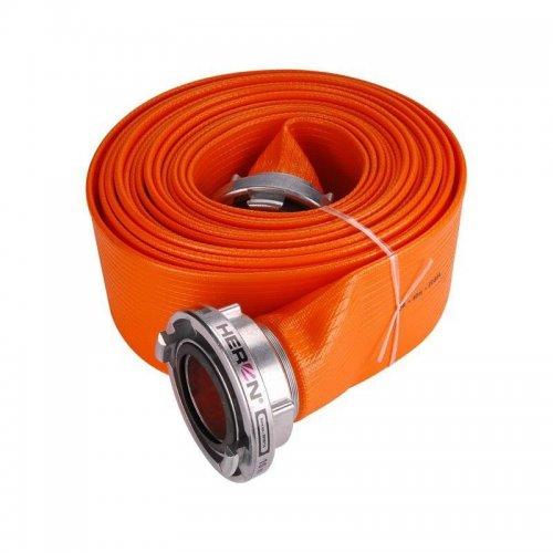 """Hadice B75 PVC Orange 10m se spojkami 3"""" 10m HERON 8898116"""