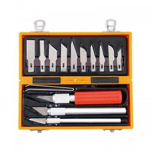 Nože na vyřezávání sada 14ks v krabičce EXTOL CRAFT 91350