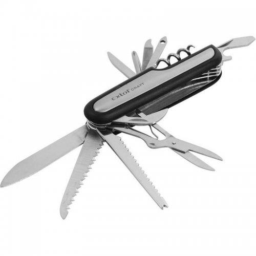 Nůž kapesní zavírací 11dílný 90mm EXTOL CRAFT 91370