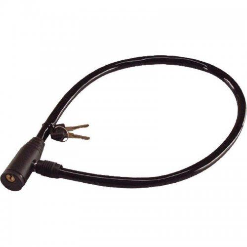 Zámek na kolo lankový 600mm 2 klíče zacvakávací 9395