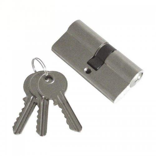 Vložka cylindrická 65mm 3 klíče mosazné poniklované tělo EXTOL CRAFT 9401