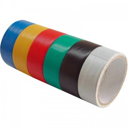 Pásky izolační PVC 19x0,13mm x 3m 6ks EXTOL CRAFT 9550