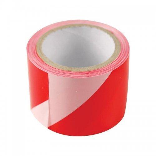 Páska výstražná červeno-bílá 75mm x 100m PE EXTOL CRAFT 9565