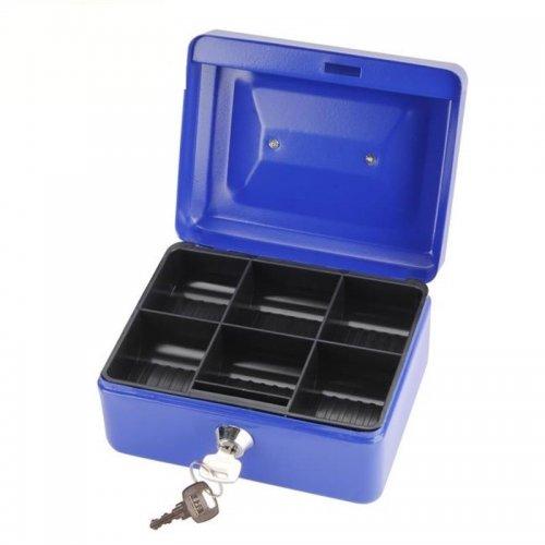 Schránka na peníze přenosná s pořadačem na mince 152x118x80mm 2 klíče EXTOL CRAFT 99010