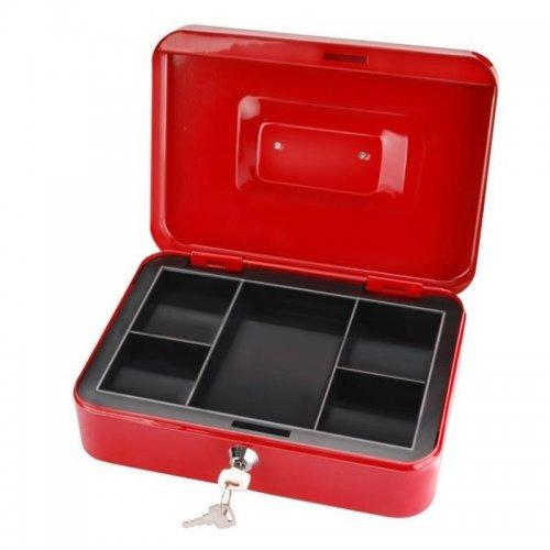 Schránka na peníze přenosná s pořadačem na mince 250x180x90mm 2 klíče EXTOL CRAFT 99012