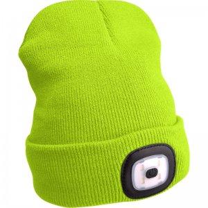 Čepice s čelovkou fluorescentní žlutá EXTOL LIGHT 43194
