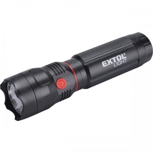 Svítilna 100lm CREE + 150lm COB s magnetem zoom 3W XPE LED EXTOL LIGHT 43117