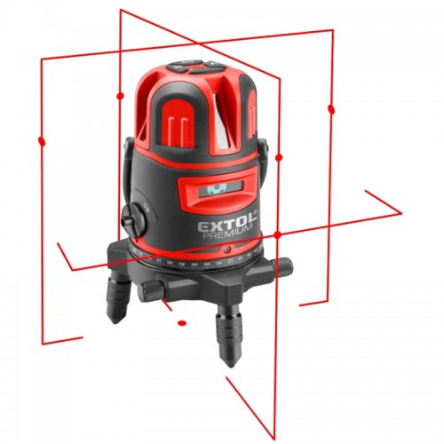 Křížový červený liniový samonivelační laser Extol Premium 8823311