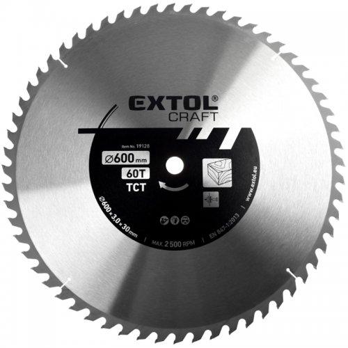 Kotouč pilový s SK plátky 600x3,0x30mm 60T EXTOL CRAFT 19128