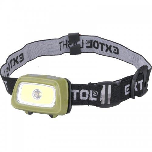 Čelovka 250lm + 250lm Seoul LED EXTOL LIGHT 43108