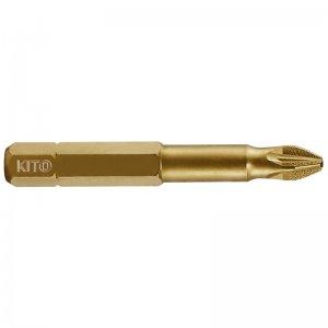 Sada hrotů 10ks PH 3x50mm S2/TiN KITO 4821212
