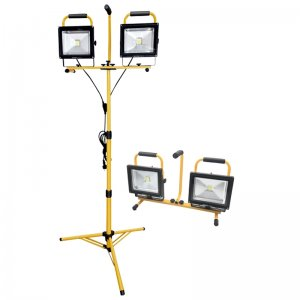 LED reflektor se stojanem 168cm 2x2400lm EXTOL LIGHT 43283