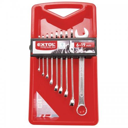 Klíče očkoploché sada 9 ks 6-19mm CrV EXTOL PREMIUM 6352