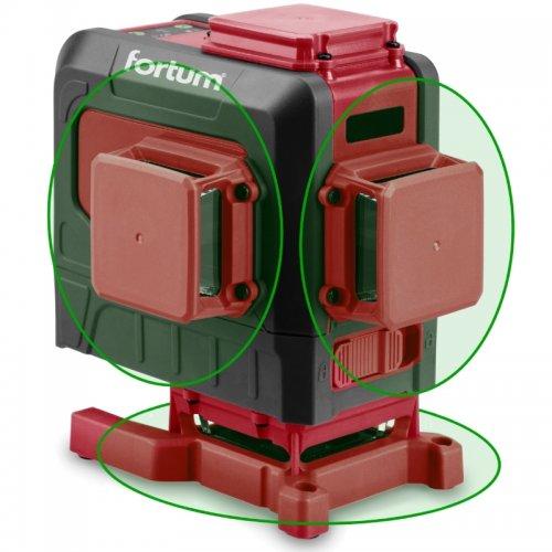 Samonivelační křížový laser se zeleným paprskem Fortum 4780216